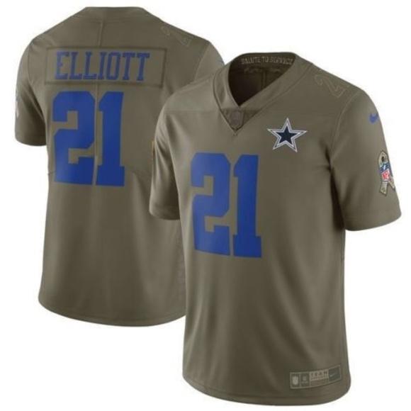 online store 8c3f6 c9df6 Nike Dallas Cowboys ezekiel elliott Jersey salute NWT
